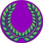 Purple with Green Laurel