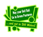 Golf Ball In Green Pastures