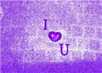 I Heart (Love) You Purple