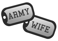 Army Wife Dog Tags