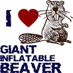 I LOVE GIANT INFLATABLE BEAVER