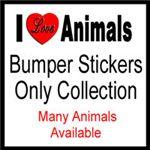 I Love Animals Bumper Stickers
