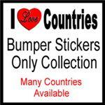 I Love Countries Bumper Stickers