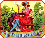 Blue Stockings Cigar Label