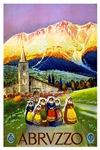 Abruzzo Italy Travel Poster 1