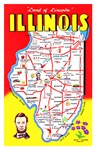 Illinois Map Greetings