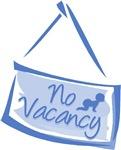 No Vacancy Blue
