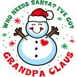 Snowman Grandpa Claus