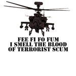 Pro war on terror Apache AH-64D Military Tees