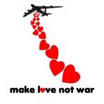 Valentine T Shirts Make love not War