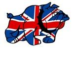 Britain Shirts-Union Jack British Bulldog