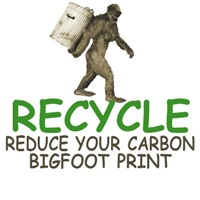 Recycle T-Shirts with a funny Bigfoot theme