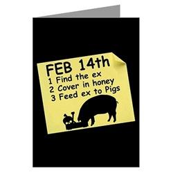 Valentine's' pig cards for ex valentine's