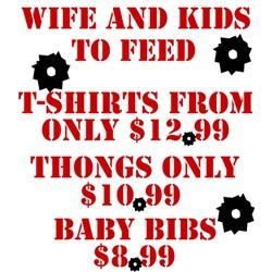 Military Shirts $12.99-Military Thongs $10.99