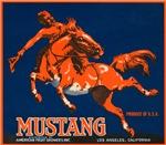 Mustang Fruit Crate Label
