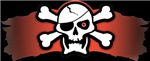 Skull and Red Banner