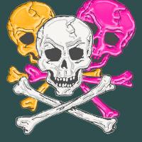 Skull and  Bones in 5 colors