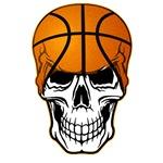 basketball skull