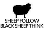 sheep follow black sheep think