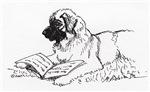 Reading Leonberger Dog