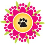 Paw Prints Flower Design