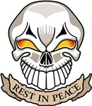 Rest in Peace Skull Tattoo