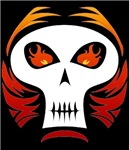 Flaming Skull t-shirts & gifts