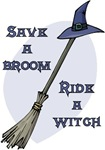 Ride a Witch Halloween tees & gifts