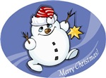 Merry Christmas snowman t-shirts & gifts