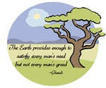 Ghandi Earth quote t-shirts & gifts