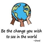 Be the Change t-shirts & gifts