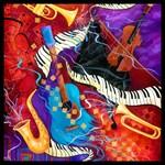 Musical Instruments Piano Saxophone Guitar Art Pri