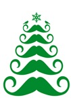 Green mustache Christmas tree