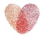 Red Fingerprint heart