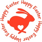 Happy Easter Bunny wth heart