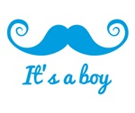 It's a boy blue mustache