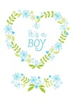 Its a boy floral heart