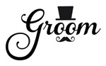 Groom with hat and mustache