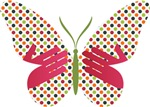 Butterfly Dots w/ Hands