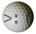 Angry Text golf ball