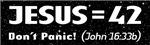 Jesus = 42 (Don't Panic!)