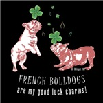Frenchie Good Luck (PINK ON DARK APPAREL)
