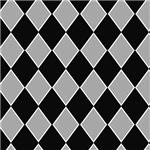 Black and Gray Checkerboard