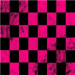 Cool neon pink checkerboard