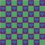 Neon Heart Checkerboard