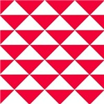 Bright Red and White Triangles