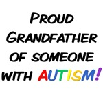 Autism Awareness T-shirts. Proud Grandfather of so