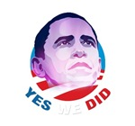 Obama. YES WE DID.