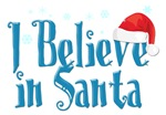 Christmas. I Believe in Santa T-shirts.