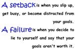 Setback And Failure